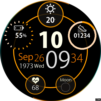 android 7.1 smartwatch watch face