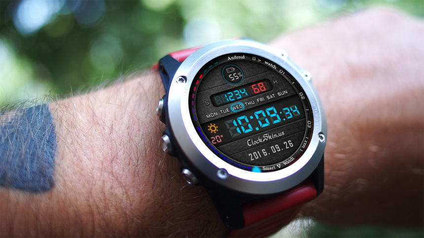 android 7 smart watch clock skin
